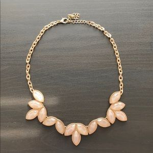 Gold and Light Pink Statement Necklace